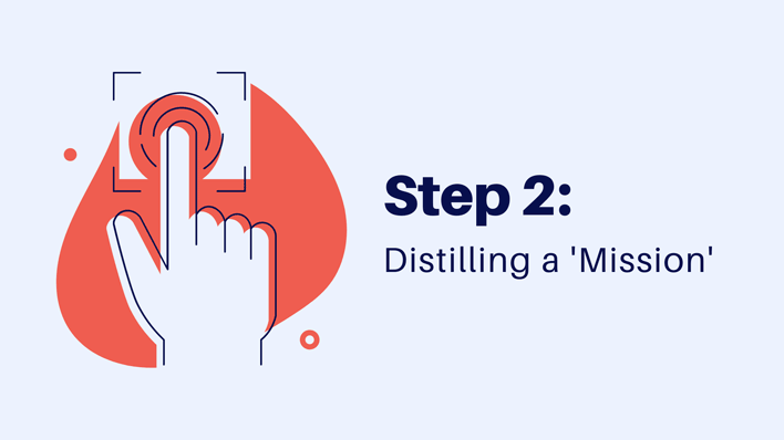 step 2 distilling a mission